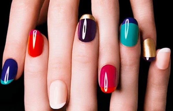 diseño de uñas para señora con esmaltes