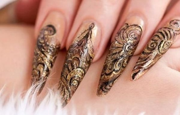 diseños de uñas que estan usando acrilias