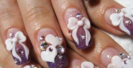 Diseños de uñas con lazos