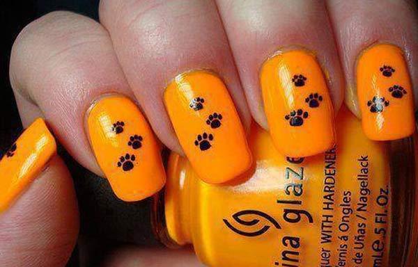 uñas decoradas color naranja enfermedad