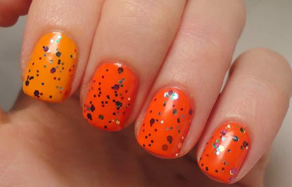 uñas decoradas colores naranjas