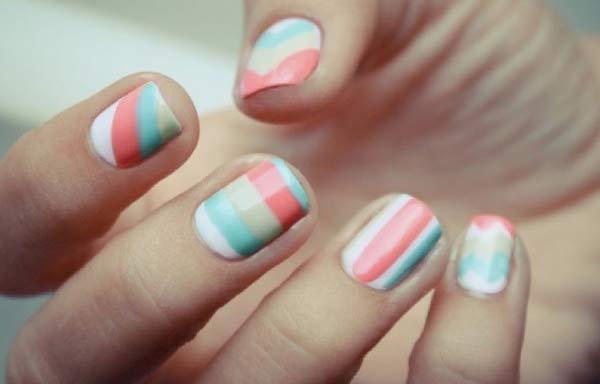 uñas decoradas colores pastel