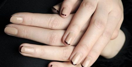 uñas decoradas color camel