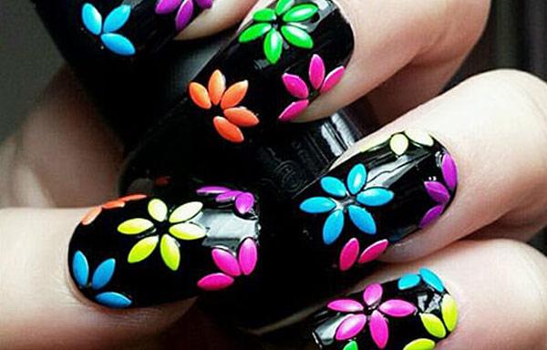 Uñas Decoradas Con Flores Sencillas De Hacer Uñasdecoradas