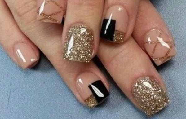 uñas decoradas elegantes negro