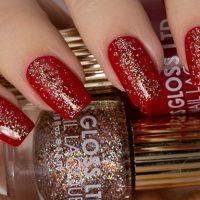 uñas decoradas elegantes rojo