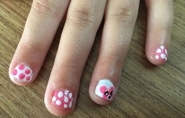 uñas decoradas infantiles oso