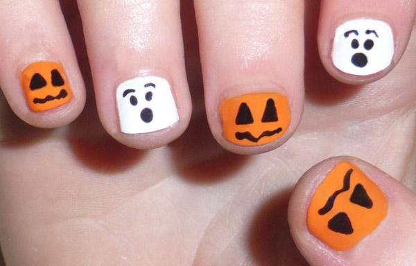 uñas decoradas infantiles halloween