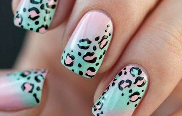 uñas decoradas acrilicas de animal print