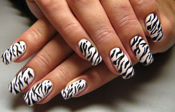 uñas decoradas animal print cebra paso a paso