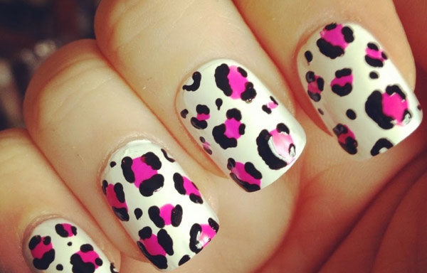 uñas decoradas animal print leopardo