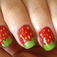 uñas decoradas con frutas