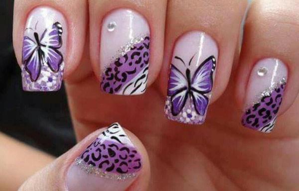 Uñas Decoradas Con Mariposas Colorido Y Fácil Uñasdecoradas Club