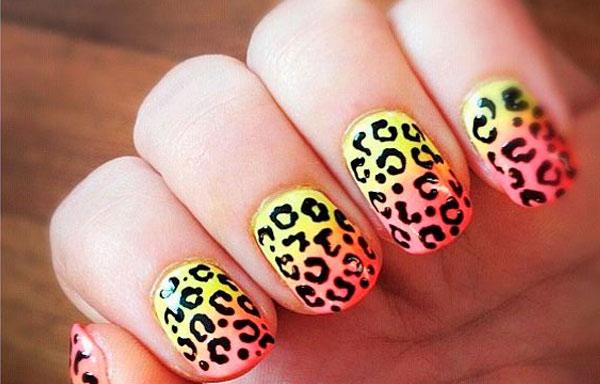 uñas decoradas de leopardo paso a paso
