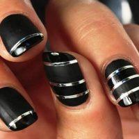 uñas decoradas con cintas