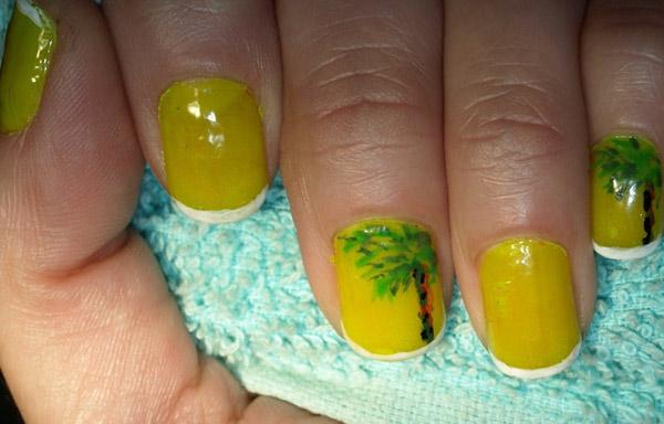 imagenes de uñas decoradas con palmeras