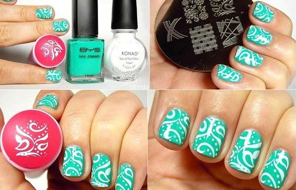 imagenes de uñas decoradas con sellos