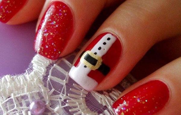 Uñas decoradas navideñas con papa Noel - UñasDecoradas CLUB