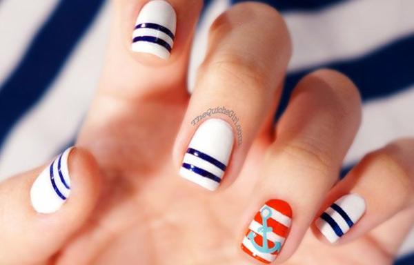 uñas decoradas para marineras