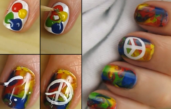 uñas decoradas estilo hippie