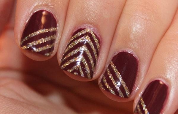 imagenes de uñas decoradas con brillantina