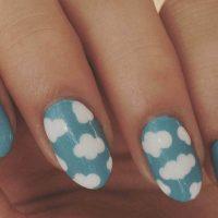 uñas decoradas con pintauñas