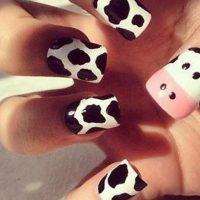 uñas decoradas de vacas