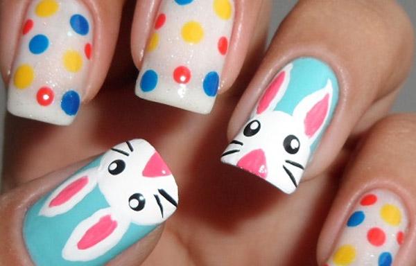 uñas decoradas de conejos paso a paso
