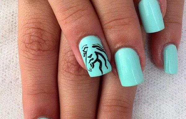 imagenes de uñas decoradas de caballos