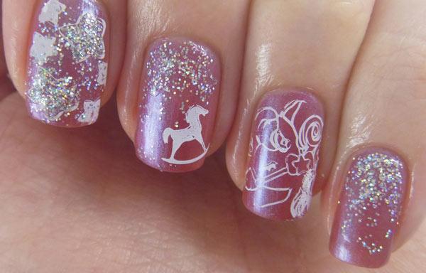 uñas decoradas con caballos