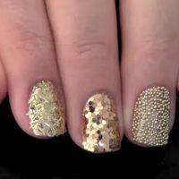 uñas decoradas con glitter