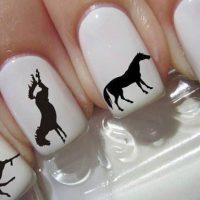 uñas decoradas de caballos