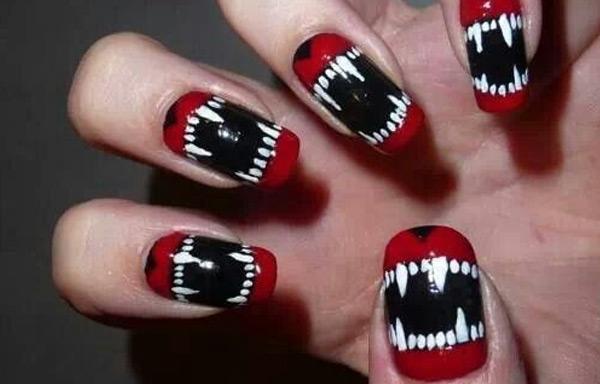 uñas decoradas locas vampiros