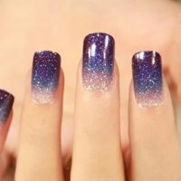 uñas decoradas galaxia