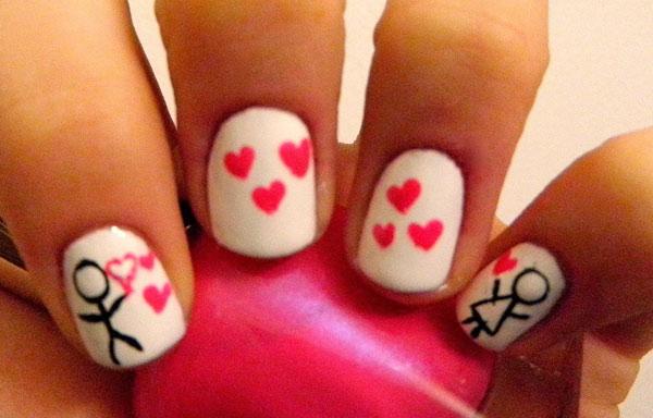 uñas decoradas de amor bonitas